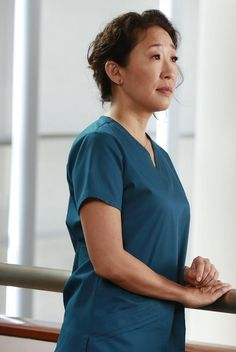 grey's anatomy..so very different and mature from the Sandra Oh we MET ten years ago!  She is amazing and beautiful!