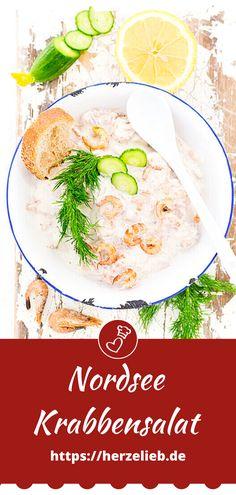 Fisch Rezepte, Krabben Rezepte: Rezept für einen Krabbensalat mit Nordseekrabben von herzelieb. Krabbensalat Selber machen ist ganz einfach! Ein leckerer Brotaufstrich mit Mayonnaise, der schnell gemacht ist. Zum Abendbrot oder auch zum Frühstück #herzelieb #krabben #nordseekrabben #brotaufstrich #fisch #abendbrot Amazing Food Photography, Food Porn, Monkey Business, Mayonnaise, Fish Recipes, Risotto, Ethnic Recipes, Dressings, Garden Design