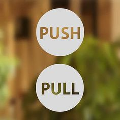 Pull Push Door Stickers Shop Window Salon Bar Cafe Restaurant Office Vinyl…