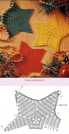 Christmas Star Ornaments Crochet Diy, Crochet Feather, Crochet Home, Irish Crochet, Crochet Flowers, Crochet Bikini, Crochet Snowflake Pattern, Crochet Stars, Crochet Motifs