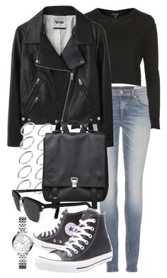 """Untitled #18301"" by florencia95 ❤ liked on Polyvore featuring rag & bone, Topshop, Acne Studios, ASOS, Proenza Schouler, Yves Saint Laurent, Converse and FOSSIL"