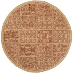 Safavieh Indoor/ Outdoor Courtyard Natural/ Brick Rug (5'3 Round) | Overstock.com Shopping - Great Deals on Safavieh Round/Oval/Square