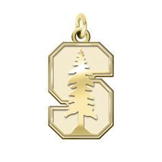 Unviersity of Virginia Cavaliers 14k Yellow Gold Cut Out Logo College Charm