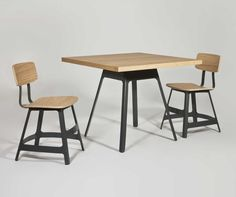 American designer Sean Dix's down-to-earth attitude is reflected in his latest designs, as Leanne Amodeo discovers. White Oak Dining Table, Square Dining Tables, Aged Care, Cafe Chairs, Vintage Industrial, Vintage Home Decor, Interiors, Chicken Chili, Furniture