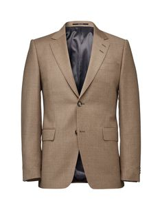 """Men's blazer in wool-cashmere blend. Slightly wider notch lapels. Two-button closure. Sharp shoulders. Straight double jetted flap pockets and double vents at back. Slim fit. </br></br>For a complete suit look wear it with <a href=""""http://tigerofsweden.com/se/trousers/gordon-trousers-T63148002.html"""" style=""""font-weight:bold; text-decoration: underline;"""" target=""""_blank"""">Gordon trousers</a>"""