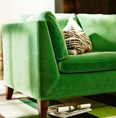 Splashes of color: emerald green