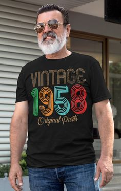 60th Birthday Gift T Shirt Love 60 And Fabulous Kiss Made In 1959 Year Mens Top