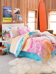 colorful beach bedrooms | Cheer Up a Goth Teen With a Colorful Bedroom Makeover | The Stir