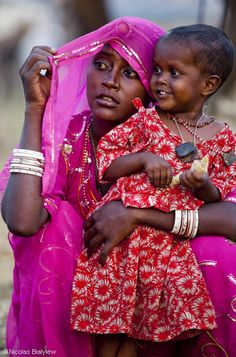 Mother and Daughter Nicolas Bialylew Photographie - Inde -Les femmes en Inde