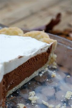 French Silk Pie, pi day for Sean