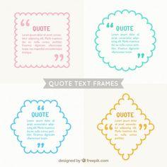 quadros de texto Citar embalar Vetor grátis