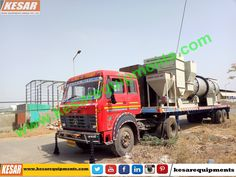 Our Company Dispatched Asphalt Drum Mix Type Hot Mix Plant (Model DM-50 Capacity 60-90 T/H) And Bitumen Emulsion Sprayer With High Compressor For Road Dust Cleaning And Wet Mix Macadam Plant (WMM-100) At #Assam,#India.