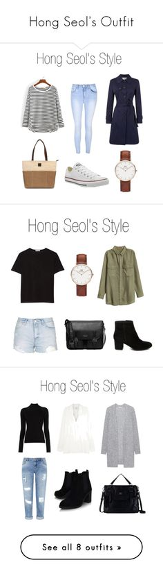 """Hong Seol's Outfit"" by ozgenurbozkurt on Polyvore featuring moda, Glamorous, Helene Berman, Converse, Daniel Wellington, outfit, university, cheeseinthetrap, hongseol ve T By Alexander Wang Uni Outfits, Korean Outfits, Casual Outfits, Korean Clothes, Kim Go Eun Style, My Style, Pretty Outfits, Cool Outfits, University Outfit"