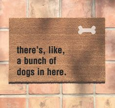 Your dog ideas You love dogs. Maybe your friends dont and should. Thisll be that pre-warning for them before they step foot in your dog loving abode to brace them. Food Dog, Welcome Mats, Basset Hound, Gag Gifts, My New Room, Dog Mom, I Love Dogs, Big Dogs, Dachshund