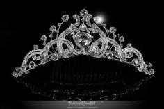 Bridal Tiara, Vintage Bridal Crystal Tiara Comb, Crystal Tiara Comb, Flowergirl Tiara, Floral Tiara, Reign Tiara, Wedding Quinceanera Tiara