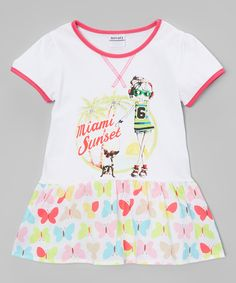 Poco & Picotine White Miami Sunset Dress - Infant, Toddler & Girls | zulily