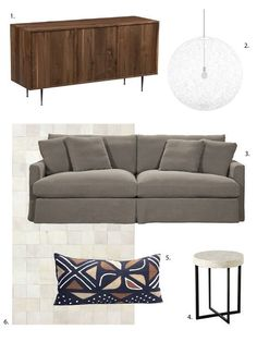 One Design, Two Budgets: Textured, Neutral Living Room