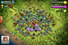 16 Best awesome clash of clans base layouts images in 2014