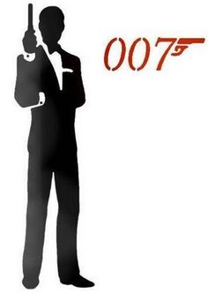 james bond silhouette | Une silhouette dun homme en costume dans le canon dune arme à feu ...