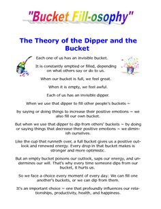 LightsOnTheLake: Becoming a Bucket Filler!