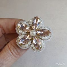 Lapel flower pin - A handmade embroidered brooch is always a fashion item in your wardrobe! Flower jewelry will look - Bead Embroidery Jewelry, Beaded Embroidery, Beaded Jewelry, Brooches Handmade, Earrings Handmade, Handmade Jewelry, Custom Jewelry, Unique Jewelry, Dainty Jewelry