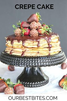 A uniquely beautiful cake made with layered crepes and a sweetly indulgent Nutella Mousse. Perfect for a brunch, Valentine