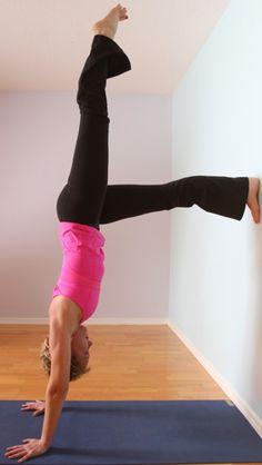 Wall Handstand Yoga Pose www.brianball.yoga