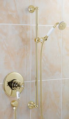 Tre Mercati   Concealed Thermostatic Shower Valve Complete With Imperial  Kit   Antique Gold Plated   50370 At Victorian Plumbing UK