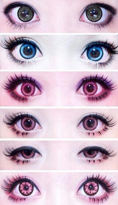 New makeup tutorial asian circle lenses ideas Pastel Goth Makeup, Gyaru Makeup, Anime Eye Makeup, Lolita Makeup, Asian Makeup, Korean Makeup, Makeup Eyes, Harajuku Makeup, Harajuku Fashion