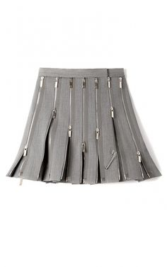 add lots of zips - MO Exclusive: Wool Zipped Kilt by Thom Browne Now Available on Moda Operandi Wool Mini Skirt, Pleated Mini Skirt, Mini Skirts, Short Skirts, Thom Browne, Mode Unique, Moda Kids, Jupe Short, Fashion Details