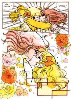 Candy y Terry kiss by Yumiko Igarashi color sleeve ✤ ||キャンディキャンディ• concept art,#shojo clasico #historieta #anime #cartoni #animati #comics #cartoon from the art Yumiko Igarashi|| ✤ Candy Candy