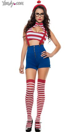 I'm pretty sure this might have been something one of those impostor Waldos wore in a Where's Waldo? | 20 Halloween Costumes That Will Destroy Your Childhood