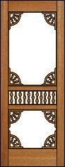 Custom made antique style screen door, just like the one on the farmhouse in 1901.