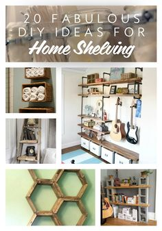 Check out these 20 DIY shelving ideas to get some inspiration for your next DIY home shelf project!