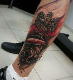 Polish Tattoos, Forearm Tattoo Men, Tattoos For Guys, Arms, Skull, Tatoo, Military Tattoos, Poland, Tattoos For Men