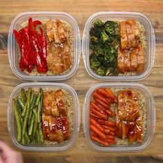 These Korean Chicken Meal Prep Bowls are a healthy make ahead lunch idea made up of chicken thighs, Asian coleslaw and jasmine rice! Easy Healthy Meal Prep, Healthy Breakfast Recipes, Easy Healthy Recipes, Lunch Recipes, Easy Meals, Healthy Eating, Clean Eating, Healthy Lunches, Easy Lunch Meal Prep