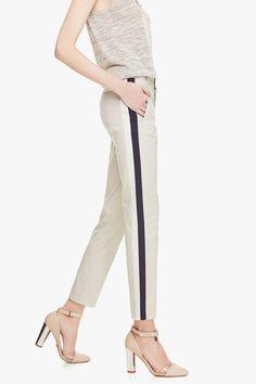 Two-Tone Trousers - Trousers & Shorts | Adolfo Dominguez shop online