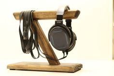 Tech Gift Mens Gift Custom Handmade Headphone Stand Unique Headphone Stand Headphone Station VII