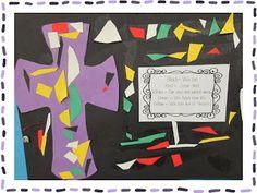 Faith Filled Freebies: Lenten Cross Project for Kids Catholic Lent, Catholic Schools Week, Catholic Crafts, Church Crafts, Catholic Homeschooling, Kindergarten Art Projects, Kindergarten Lessons, Teaching Religion, Art Lessons Elementary