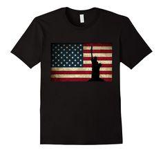 Patriotic American Flag Veterans Day T-Shirt