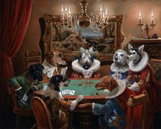 Michael Cheval Gone to the Dogs