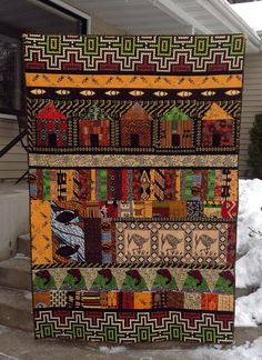 African fabric quilt by Diane Fulton