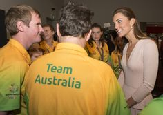 --April 23,2014--Catherine, Duchess of Cambridge meets members of the Special Olympics Australia team