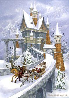 moroz-illustrations...Väterchen Frost...russian Santa
