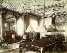 The second empire billiards room Worth Park Sussex 1886