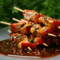 In honor of Chinese New Year: Fish anticuchos with Oriental Sauce. Peruvian-Chinese style!  will have to try it.
