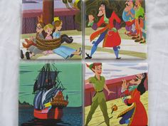 Set of 4 Peter Pan ceramic coasters - made with a real vintage Disney book. $16.99, via Etsy.