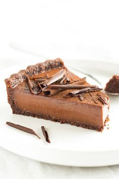 Vegan Chocolate Custard Tart