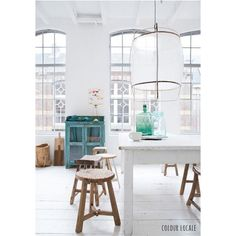 Radiant with light and texture and thoughtful color. creating EASE in design feel. Couleur-Locale-Belgium-stools-photo-by-Paulina-Arcklin. Room Inspiration, Interior Inspiration, Decoracion Vintage Chic, Home And Deco, Style At Home, Interiores Design, Home Fashion, Rustic Furniture, Home And Living