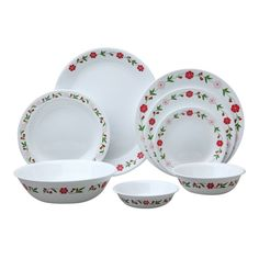 Corelle Livingware Spring Pink 76-Pc Dinnerware Set #Corelle